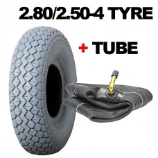 2.80/2.50-4 Mobility Scooter Tyres Front Fitting Grey Tyre NONE MARKING