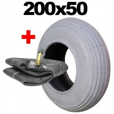 200x50 Mobility Scooter Tyres Grey None Marking Tyre 200 x 50 Wheelchair Tyre