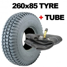 260x85 Mobility Scooter Tyres 3.00-4 Block Tread Rear Grey Tyre 10x3 300 x 4