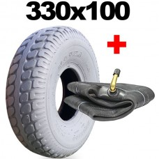 330x100 Tyre Mobility Scooter Grey None Marking 4.00-5 Tyres