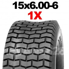 15x6.00-6 TYRE SUITABLE FOR RIDE ON MOWERS, ATV, GARDEN TRACTORS & TRAILERS
