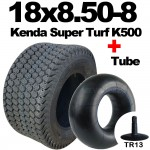 18x8.50-8 TYRE & TUBE SET Kenda Super Turf K500