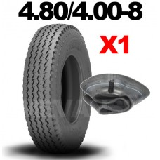 4.80/4.00-8 6 PLY TRAILER TYRE & FREE TUBE 480 / 400 - 8 6 PLY TRAILER TIRE